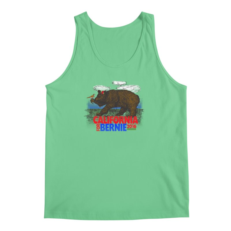 California For Bernie! Bear and Sparrow Men's Tank by deathandtaxes's Artist Shop