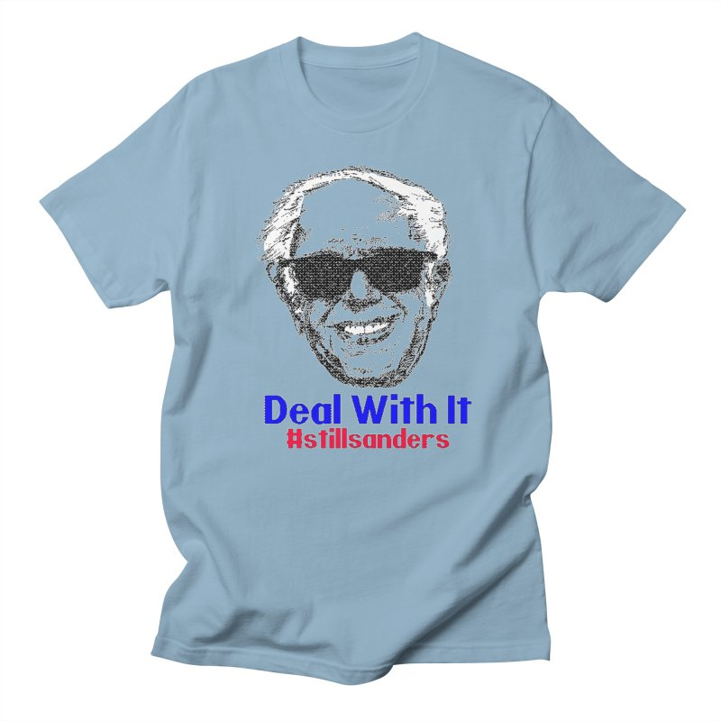 Stillsanders; Deal With It Men's Regular T-Shirt by deathandtaxes's Artist Shop