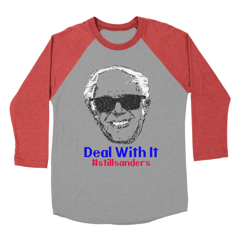 Stillsanders; Deal With It Men's Baseball Triblend T-Shirt by deathandtaxes's Artist Shop