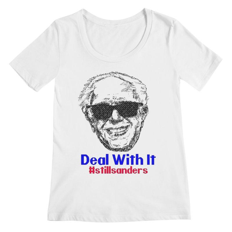 Stillsanders; Deal With It Women's Scoopneck by deathandtaxes's Artist Shop