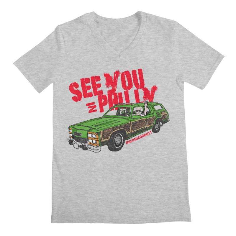 See You In Philly Men's Regular V-Neck by deathandtaxes's Artist Shop