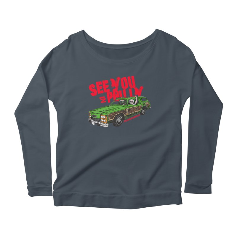 See You In Philly Women's Scoop Neck Longsleeve T-Shirt by deathandtaxes's Artist Shop