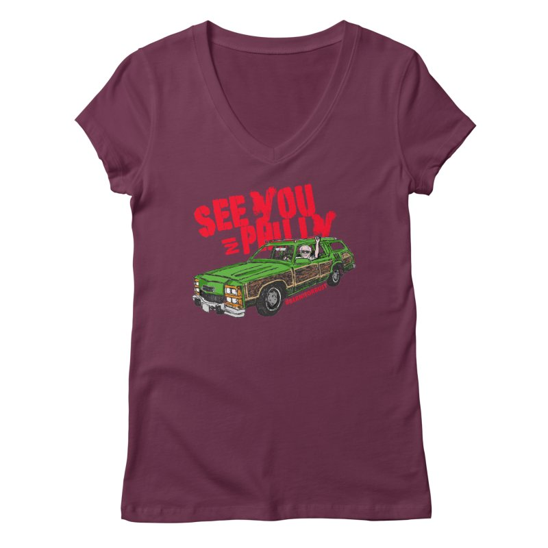 See You In Philly Women's V-Neck by deathandtaxes's Artist Shop