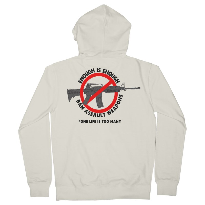 Ban Assault Weapons Men's French Terry Zip-Up Hoody by deathandtaxes's Artist Shop