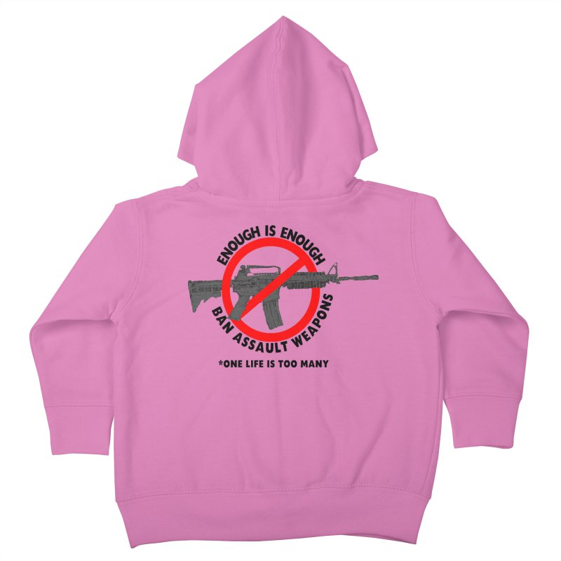 Ban Assault Weapons Kids Toddler Zip-Up Hoody by deathandtaxes's Artist Shop