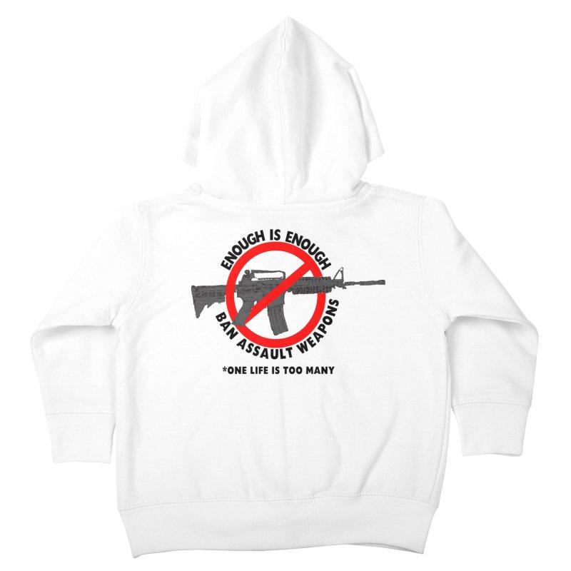 Ban Assault Weapons Kids Toddler Zip-Up Hoody by deathandtaxes's Artist Shop
