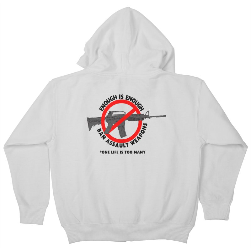 Ban Assault Weapons Kids Zip-Up Hoody by deathandtaxes's Artist Shop
