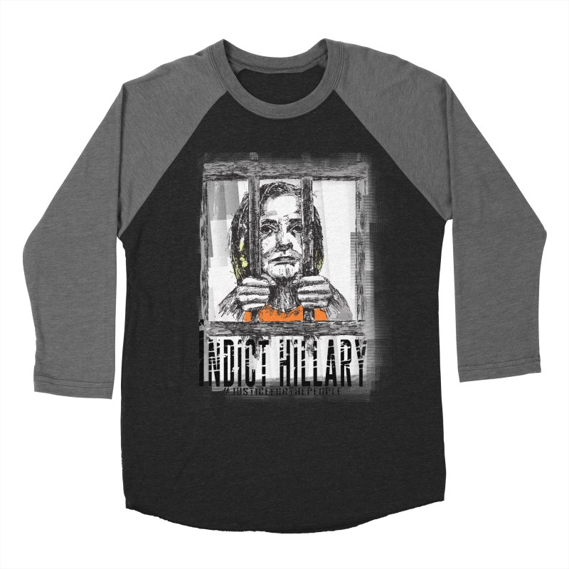 Indict Hilary Tee Men's Baseball Triblend Longsleeve T-Shirt by deathandtaxes's Artist Shop