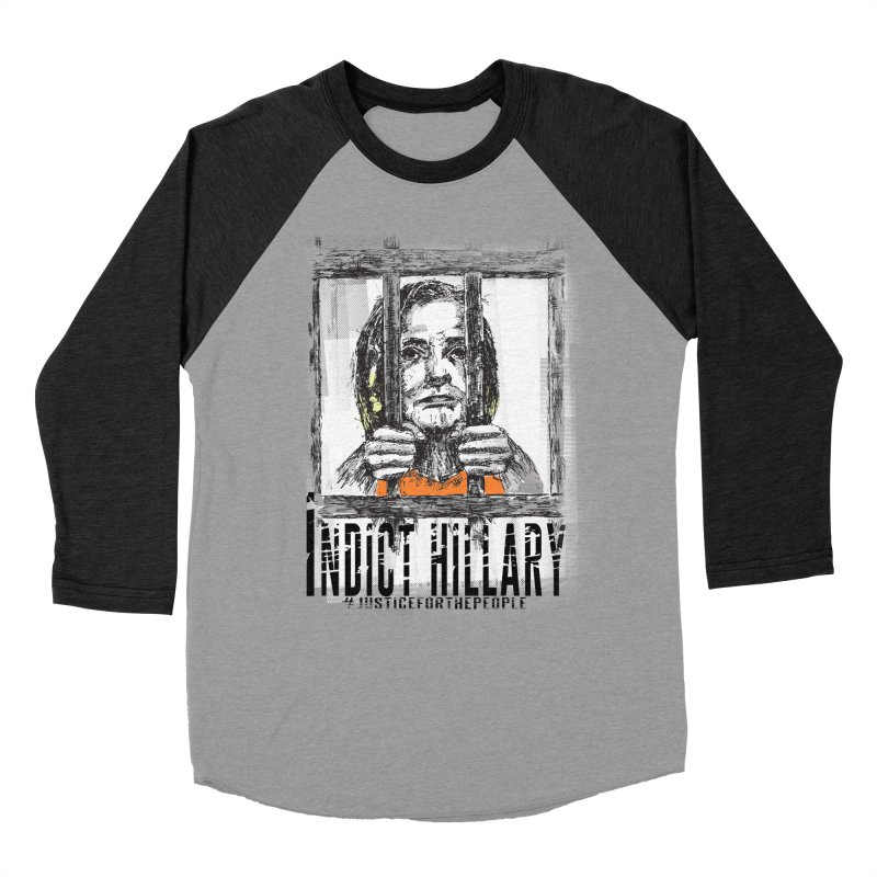 Indict Hilary Tee Men's Baseball Triblend T-Shirt by deathandtaxes's Artist Shop