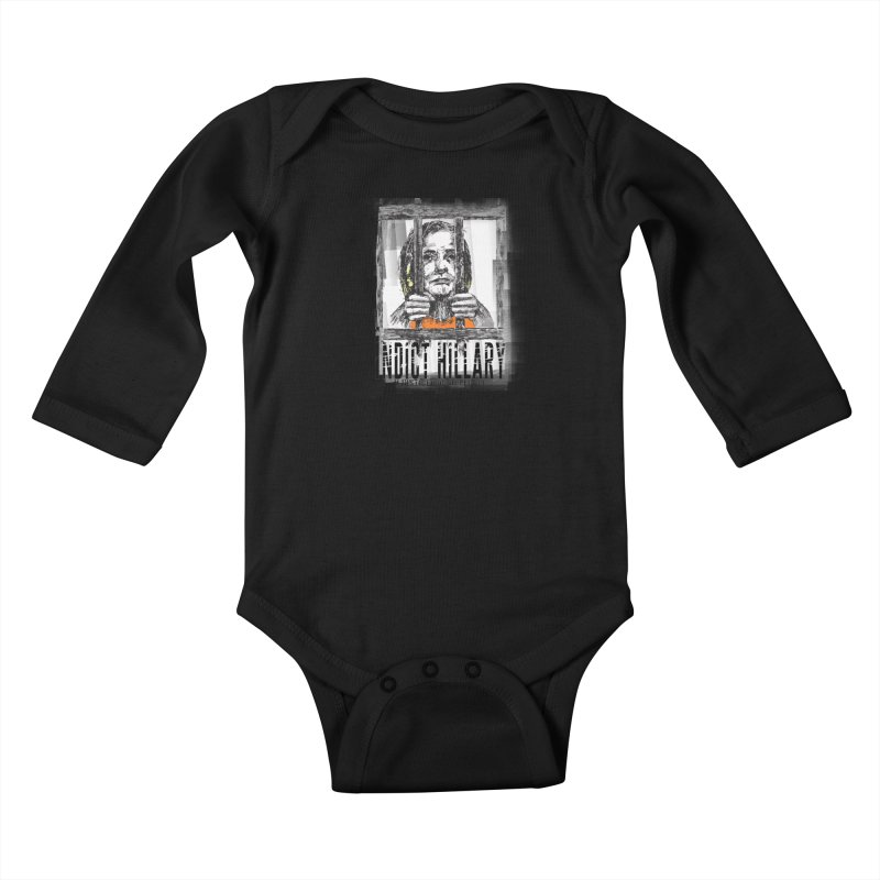 Indict Hilary Tee Kids Baby Longsleeve Bodysuit by deathandtaxes's Artist Shop