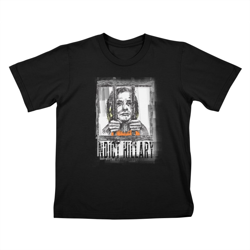 Indict Hilary Tee Kids T-Shirt by deathandtaxes's Artist Shop
