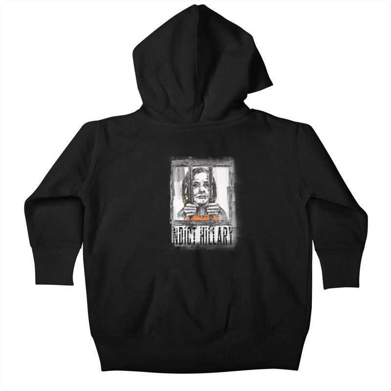 Indict Hilary Tee Kids Baby Zip-Up Hoody by deathandtaxes's Artist Shop