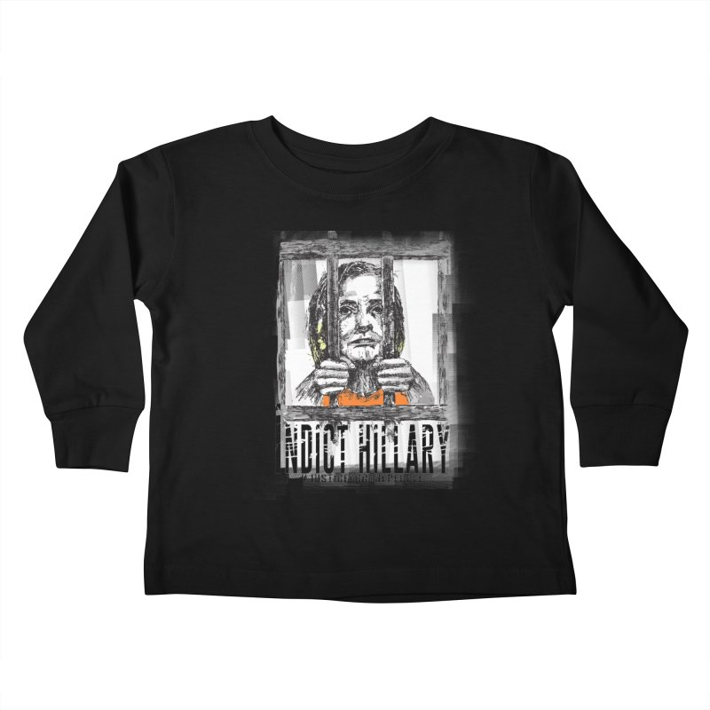 Indict Hilary Tee Kids Toddler Longsleeve T-Shirt by deathandtaxes's Artist Shop