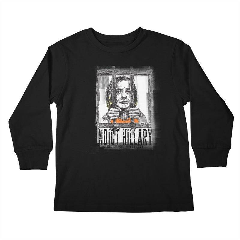Indict Hilary Tee Kids Longsleeve T-Shirt by deathandtaxes's Artist Shop