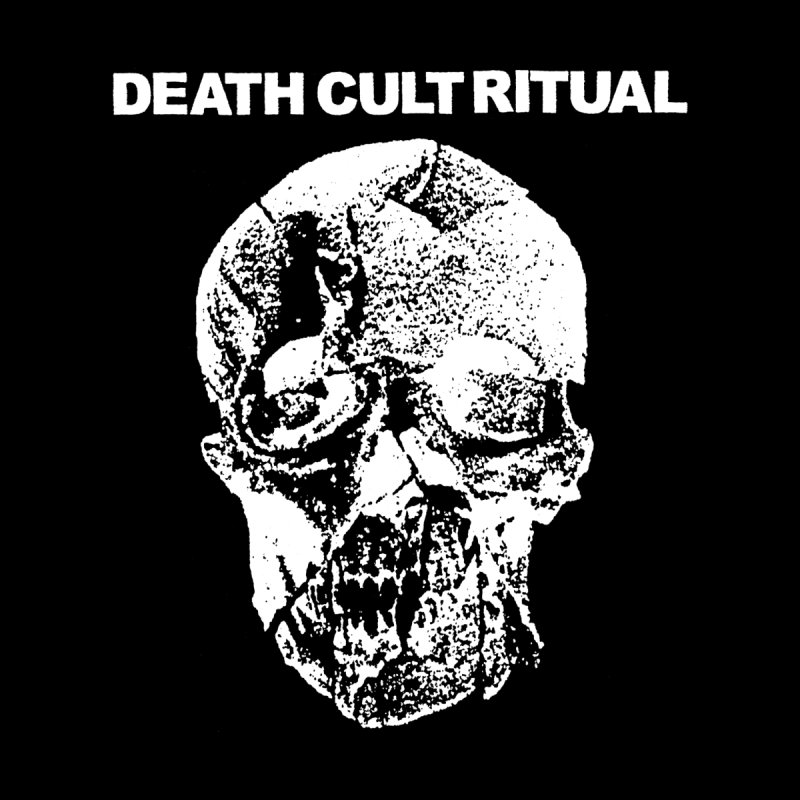 DEATH CULT RITUAL Skull on Black by deathbed tapes