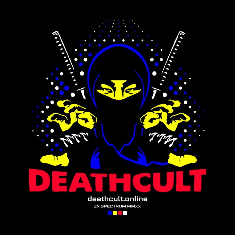 DEATHCULT NINJA LOGO SPECTRUM BLACK TEE Men's T-Shirt by Deathcult Studios