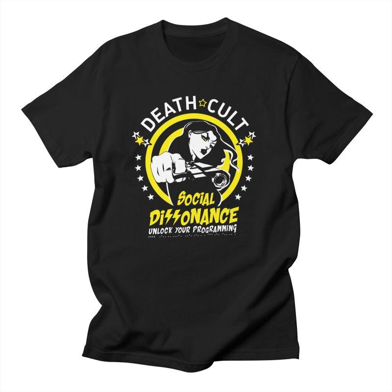 DEATHCULT SOCIAL DISSONANCE Men's T-Shirt by Deathcult Studios