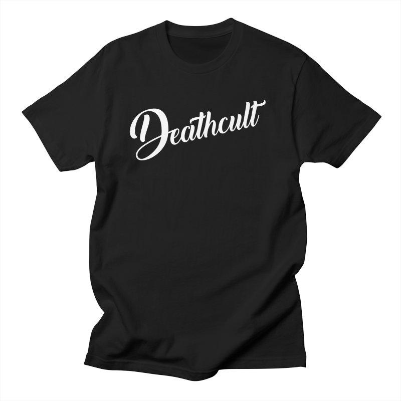 DEATHCULT - CURSIVE LOGO Men's T-Shirt by Deathcult Studios