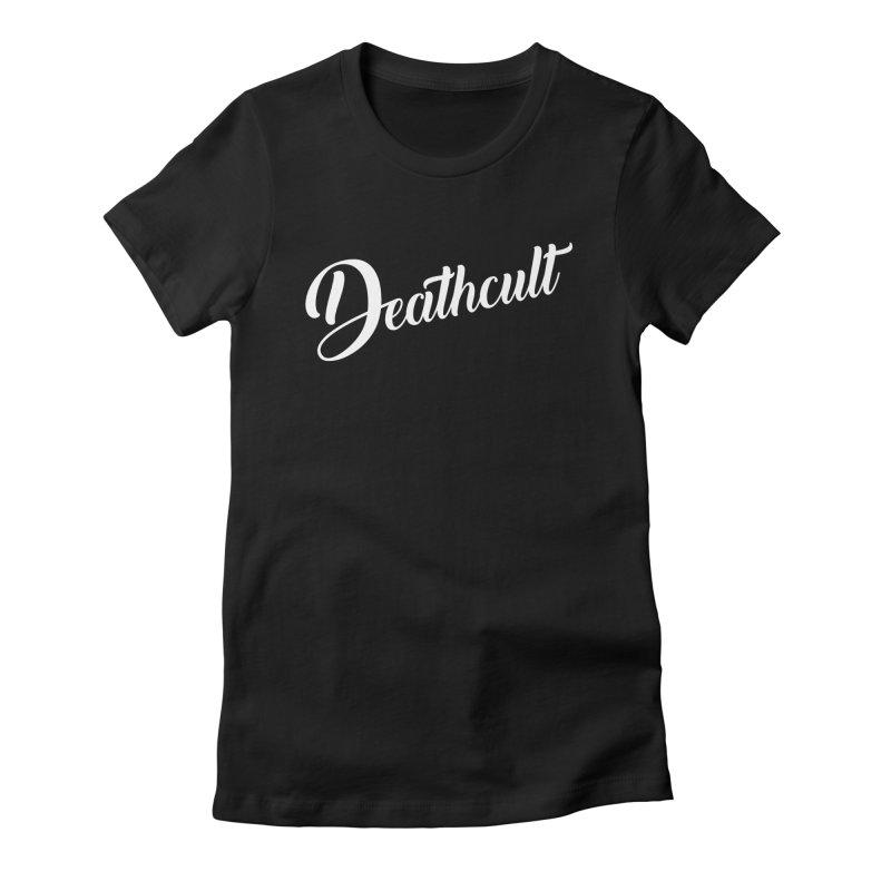 DEATHCULT - CURSIVE LOGO Women's T-Shirt by deathcultonline