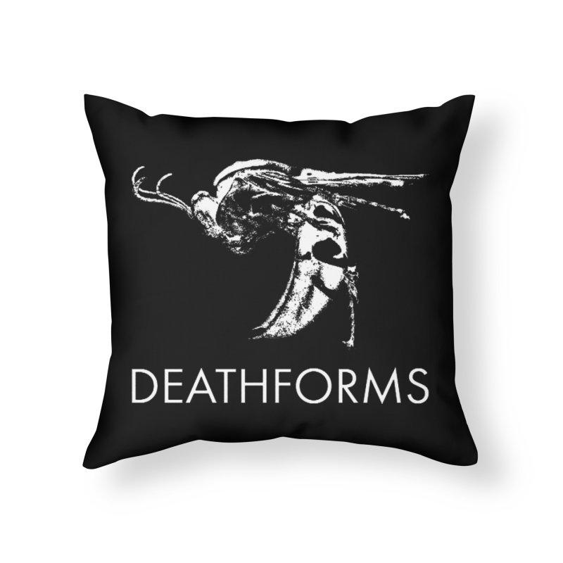 DEATHFORMS Home Throw Pillow by DEATHFORMS