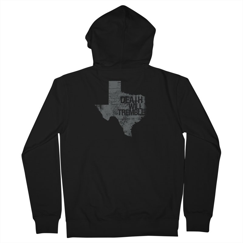 death and texas. Men's French Terry Zip-Up Hoody by DEATH WILL TREMBLE
