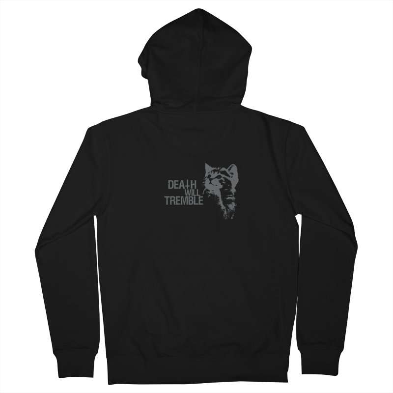 here kitty! Men's French Terry Zip-Up Hoody by DEATH WILL TREMBLE