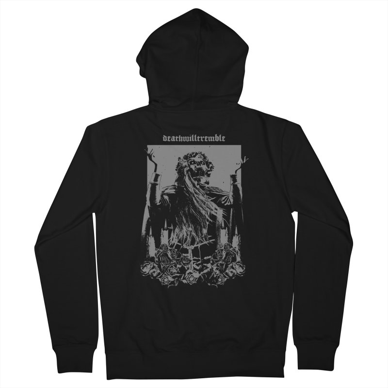holy death. Men's French Terry Zip-Up Hoody by DEATH WILL TREMBLE