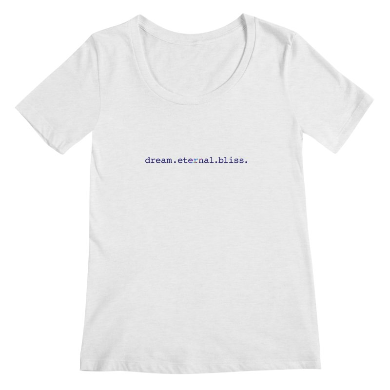 DEB Logo Women's Regular Scoop Neck by Dream Eternal Bliss Merchandise