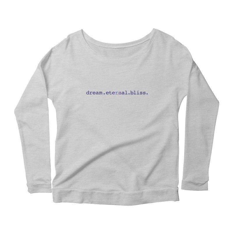 DEB Logo Women's Scoop Neck Longsleeve T-Shirt by Dream Eternal Bliss Merchandise