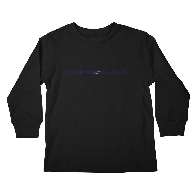 DEB Logo Kids Longsleeve T-Shirt by Dream Eternal Bliss Merchandise