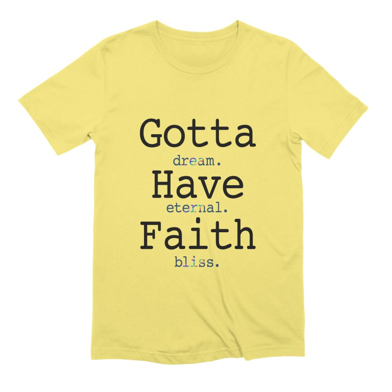 DEB and Faith Men's Extra Soft T-Shirt by Dream Eternal Bliss Merchandise