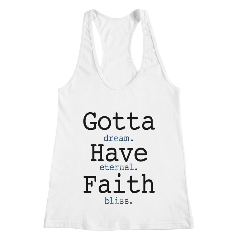 DEB and Faith Women's Racerback Tank by Dream Eternal Bliss Merchandise