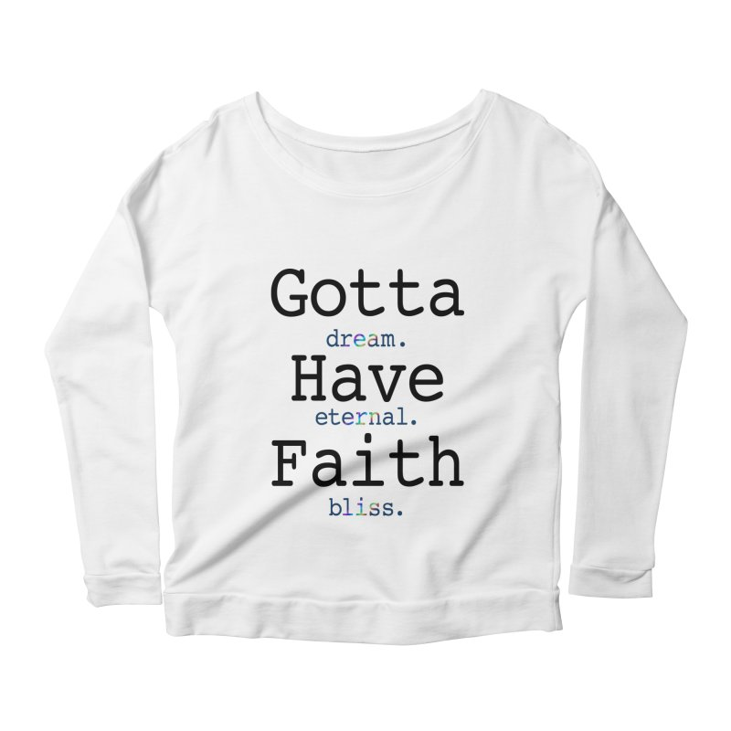 DEB and Faith Women's Scoop Neck Longsleeve T-Shirt by Dream Eternal Bliss Merchandise