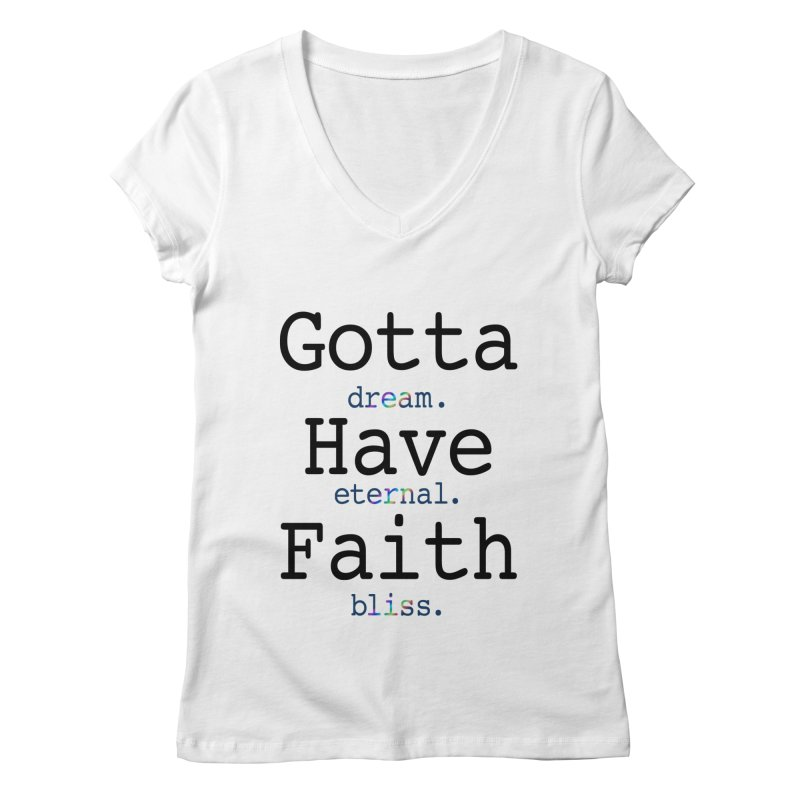 DEB and Faith Women's V-Neck by Dream Eternal Bliss Merchandise