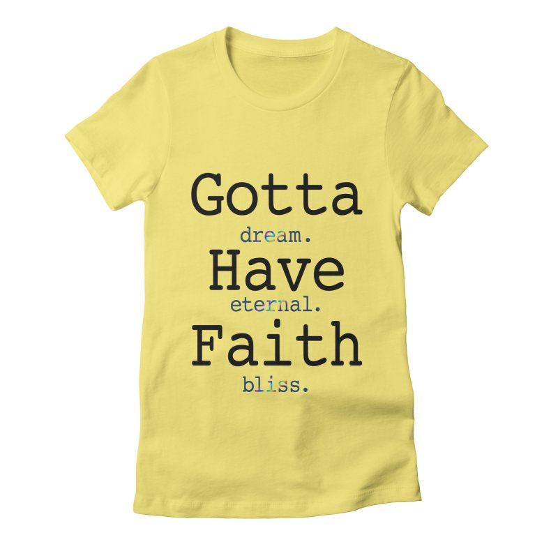 DEB and Faith Women's Fitted T-Shirt by Dream Eternal Bliss Merchandise