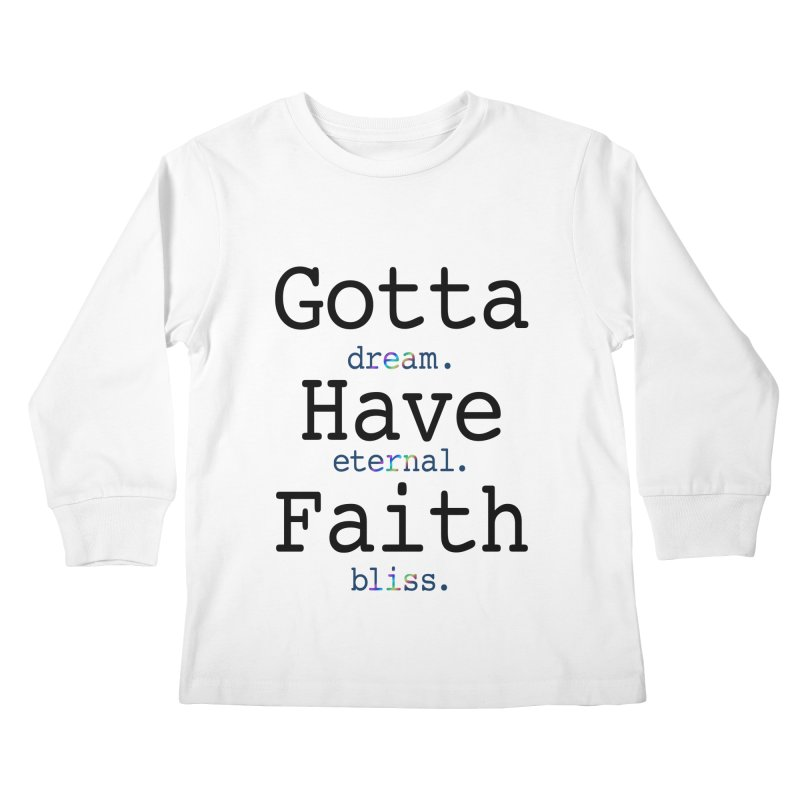 DEB and Faith Kids Longsleeve T-Shirt by Dream Eternal Bliss Merchandise
