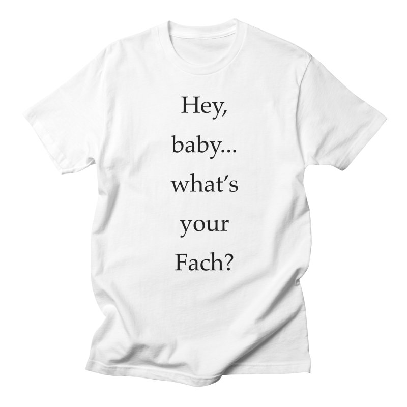 What's your Fach? Men's Regular T-Shirt by Debutee