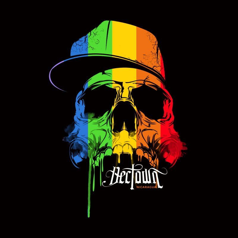 Rainbow Skull Men's T-shirt by Dectown's Artist Shop