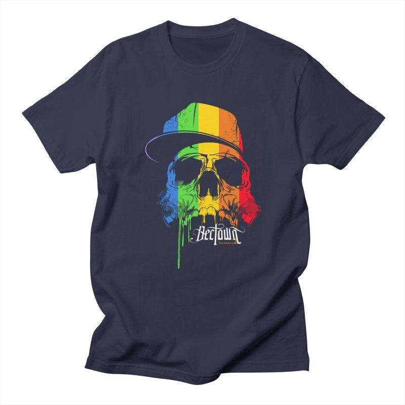 Rainbow Skull Men's T-Shirt by Dectown's Artist Shop