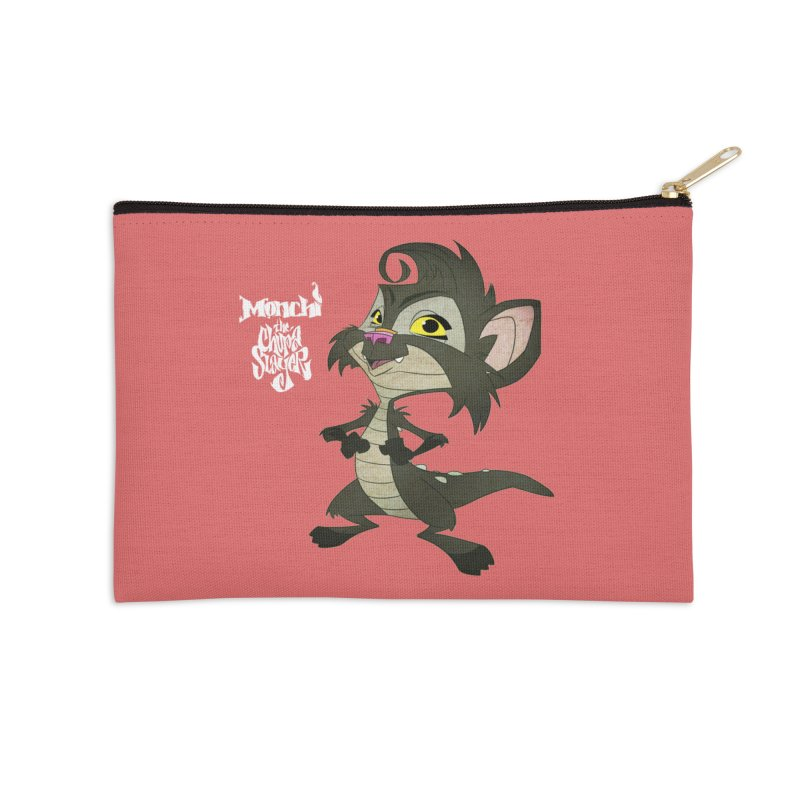 Monchi the Chupa Slayer Accessories Zip Pouch by Dedos tees