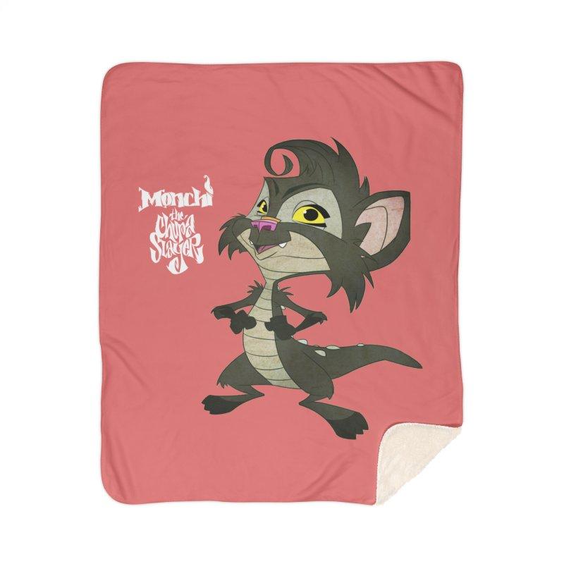Monchi the Chupa Slayer Home Sherpa Blanket Blanket by Dedos tees
