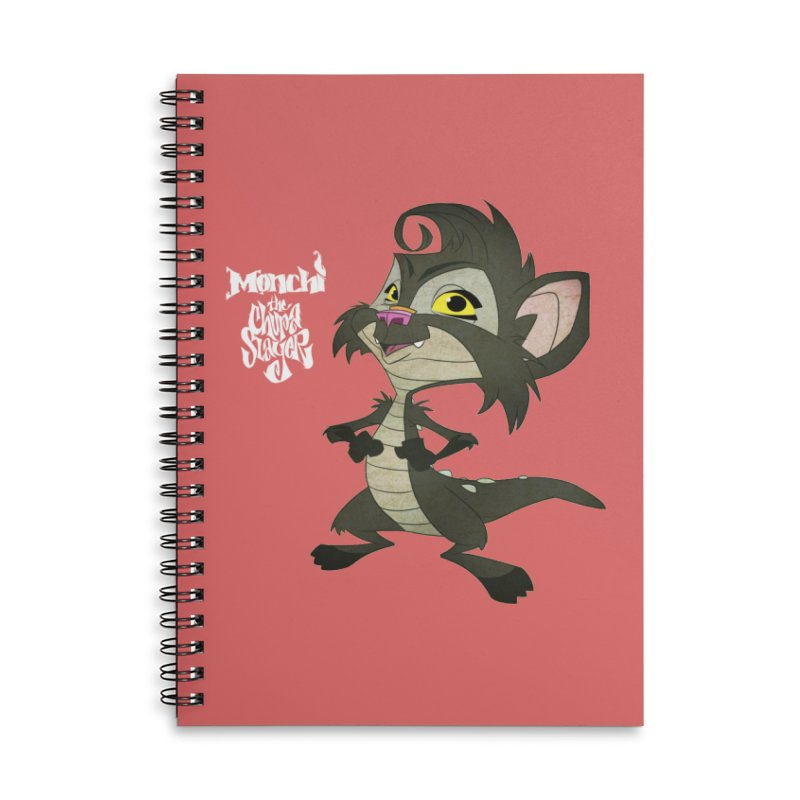 Monchi the Chupa Slayer Accessories Lined Spiral Notebook by Dedos tees