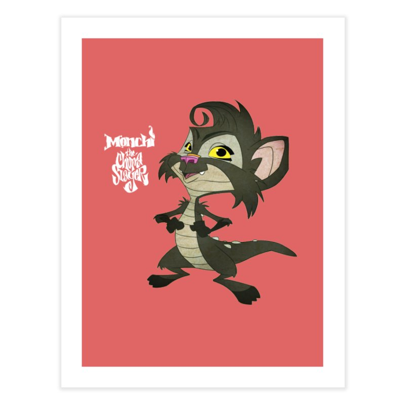 Monchi the Chupa Slayer Home Fine Art Print by Dedos tees