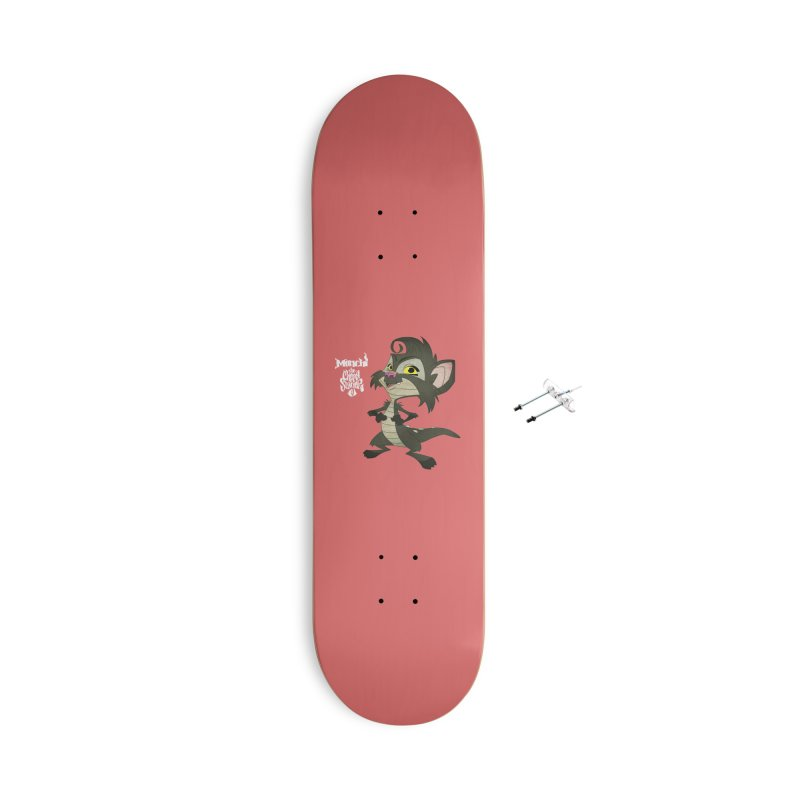 Monchi the Chupa Slayer Accessories With Hanging Hardware Skateboard by Dedos tees