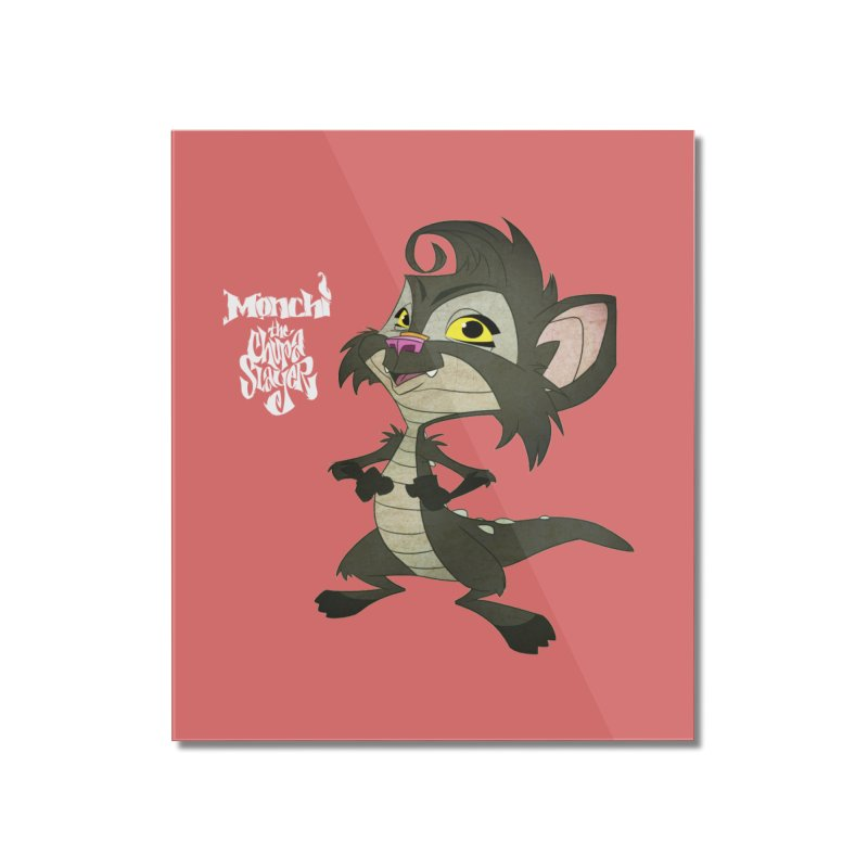 Monchi the Chupa Slayer Home Mounted Acrylic Print by Dedos tees