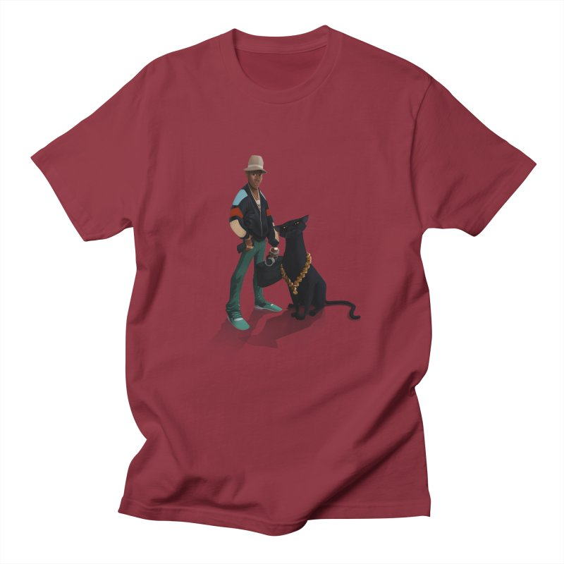 Walking with a Panther in Men's Regular T-Shirt Scarlet Red by Dedos tees