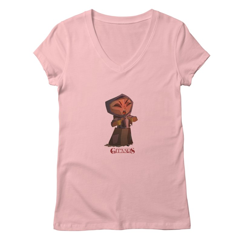 Cantor in Women's Regular V-Neck Pink by Dedos tees