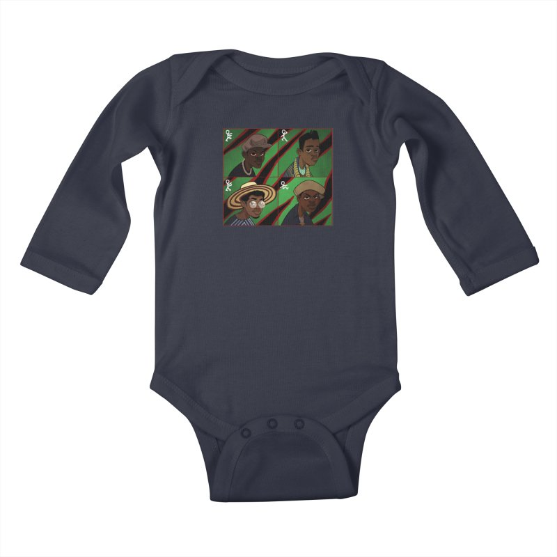 Classic example of a... Kids Baby Longsleeve Bodysuit by Dedos tees