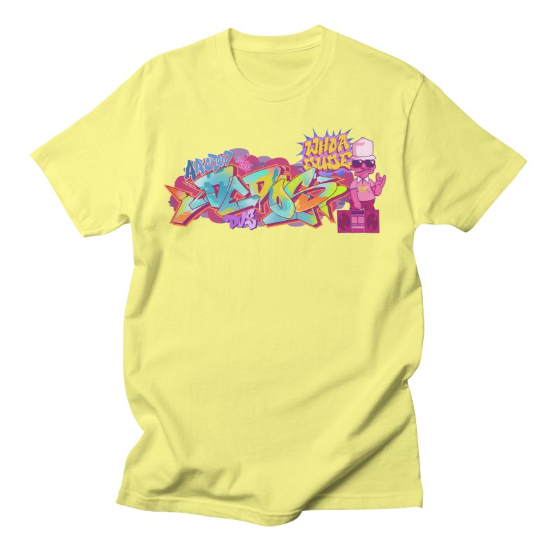 Dedos Graffiti letters 1 in Men's Regular T-Shirt Lemon by Dedos tees