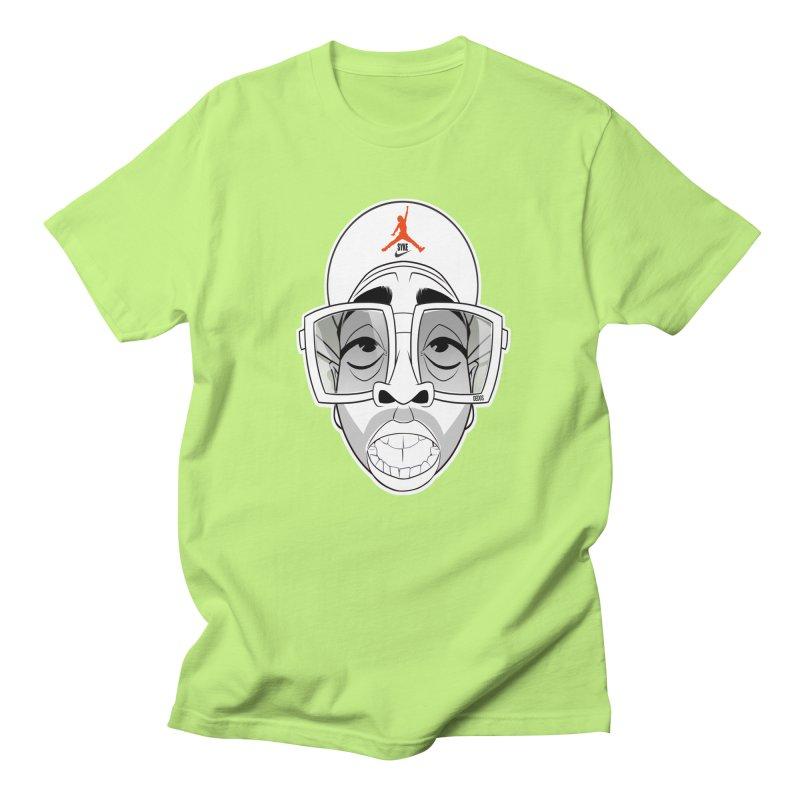 Mars syke blkwht in Men's Regular T-Shirt Neon Green by Dedos tees